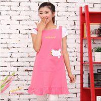 工厂直销可爱优乐猫韩版母婴馆店面幼儿园老师工作服美甲围裙