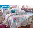 Full Queen Cotton Bedding Sets / Comfortable Breathable Floral Bedding Sets