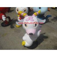 供应游乐园卡通羊动物雕塑 深圳市玻璃钢卡通羊雕塑生产厂家