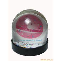供应水球(压克力可放照片水球,相框雪花球,相框入油球)