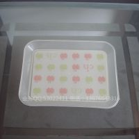 DHAO3455简易塑料方形果盘 18CM糖果盘 婚庆用品2元特价供应盘子