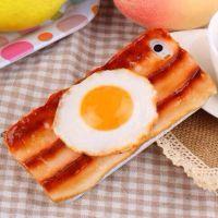 潮日本寿司美食苹果iphone5 5s手机壳套 荷包蛋 蛋炒饭挂绳保护套