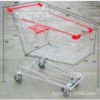 供应电梯轮超市购物车 折叠式购物车 手推购物车 日式超市购物车