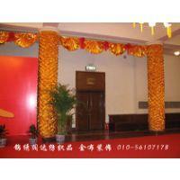 北京锦绣阔达厂家直销金布装饰布 金布拉皱 金布包圆柱 金布包树