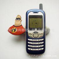 手机饰品 pvc手机座 atbcpvc手机支架 卡通动物手机座
