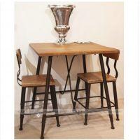铁艺客厅家用餐桌椅组合咖啡厅餐厅实木餐桌椅学生饭店桌椅子