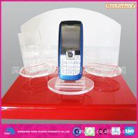 厂家直销亚克力工艺品 国产手机展示架 华为手机架 透明手机架