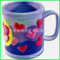 【欧盟环保】立体滴胶PVC马克杯 食品级耐高温儿童马克杯