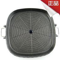 韩国原装进口HANARO方形烤盘 韩式烧烤盘 麦饭石涂层不粘效果好