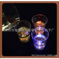 工厂直销发光小酒杯LED发光杯夜光杯可以加印LOGO品质保证
