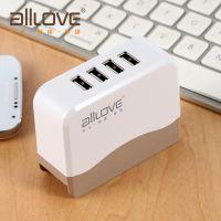 alllove多接口usb智能充电器 小米iPhone平板手机通用充电插头