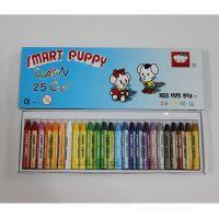 聪明狗12 16 25色蜡笔  学生儿童无毒蜡笔 无毒油画棒 粉蜡笔
