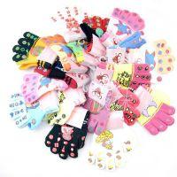 韩国 新款婴儿童全指手套 胶印卡通 宝宝手套 保暖手套