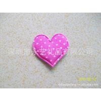 深粉红圆点爱心 心型 玩具心型 内有海棉心型 电压心型