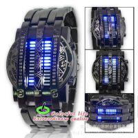 厂家现货批发供应升级版二进制LED手表,新款钢铁侠手表支持代发