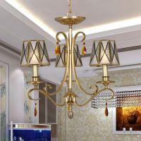 全铜美式乡村吊灯 欧式灯饰灯具 客厅卧室书房餐厅灯 酒店工程灯