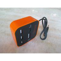 厂家批发 多功能USB2.0 combo读卡器 三合一hub分线器 线长一米