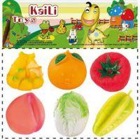 捏捏叫 仿真水果动物蔬菜皮响玩具 洗澡玩具批发 质量好 0.19