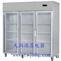 供应冰立方大三门冷藏保鲜展示柜S1.6G3 美厨冰立方三玻璃门展示柜
