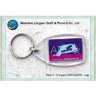 Transparent plastic photo keychain customized Blank / photo frame key chains