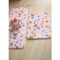 小清新 砂糖熊美美地垫长方形防滑脚垫 床边垫子 瑜伽垫 飘窗垫