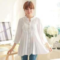 特价批发时尚夏装大码新款中袖衬衫女韩版宽松纯棉麻衬衣