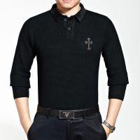 男装2014秋季纯色韩版针织衫男士毛衣中老年开衫外套打底衫招代理
