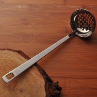 加厚不锈钢防烫火锅汤勺 漏勺 粥勺 盛汤勺 汤漏 厨具套装小漏勺
