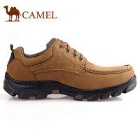 台湾骆驼牌男鞋正品男士日常休闲真皮磨砂牛皮鞋潮流皮鞋单鞋新款