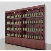 厂家定做专卖店红酒柜 精品葡萄酒展柜 超市红酒展柜