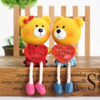 树脂吊脚娃娃树脂对熊电表箱摆件工艺装饰品熊宝宝(混色)