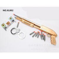 黄金版软弹枪儿童吸盘枪带软子弹带手铐儿童玩具热卖品军事模型枪