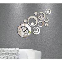 NF145圈圆速卖通暴款镜面墙贴钟表DIY创意亚克力镜面墙贴钟表