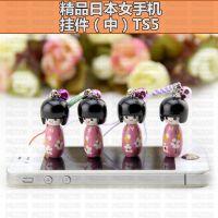 批发热卖 精美木质工艺品 精品日本女手机挂件TS5 木偶手机挂件