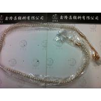 供应:铝链镶嵌珍珠腰链 浅金色珍珠腰饰 珍珠小腰带&腰链批发