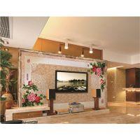 瓷砖背景墙品牌 彩虹石 家装电视墙效果图 装修电视墙图片-春风得意