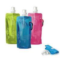 供应自立挂钩运动便携水袋  带环扣带吸嘴外观精美