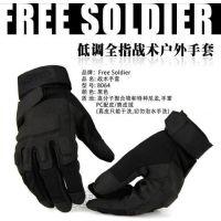 黑鹰男户外登山防滑保暖手套运动战术我是特种兵全指男士健身骑车