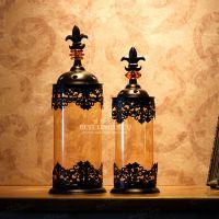 【摩洛哥H】欧式古铜色烛台餐桌烛台