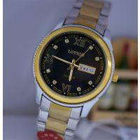 LUO6167罗马镶钻间金商务男士双日历钢带精密防水手表支持代发