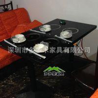 全国连锁酒店餐厅火锅餐桌 大理石火锅桌 电磁炉火锅桌