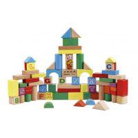 丹妮玩具 金钥匙75片字母学习乐园积木 儿童益智玩具 木制玩具