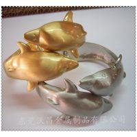 合金海豚开口手镯 锌合金闪闪树叶造型手镯加工定做