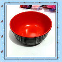 0155 口径12.5cm 双色黑红碗 仿瓷汤面碗 密胺碗 饭店厨房用品2元