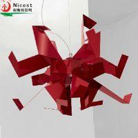 千纸鹤创意折纸吊灯 现代简约卧室客厅灯饰餐厅灯具 时尚现代吊灯