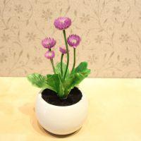 小紫花盆栽迷你盆栽仿真盆景仿真花盆花艺花器