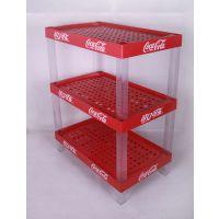 【制造商】可乐商超展示架大长方塑料货架饮料促销广告陈列架