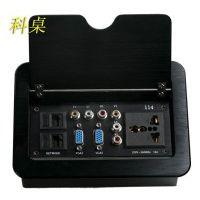 翻盖式桌面插座 会议多功能插座 科桌办公桌桌面线盒 桌插