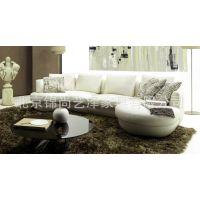 新款现代国际风格转角皮沙发 组合沙发 客厅真皮沙发 皮料可选