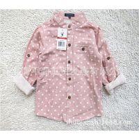 品牌童装 立领圆点长袖童衬衫 外贸童衬衣 新品纯棉儿童衬衫